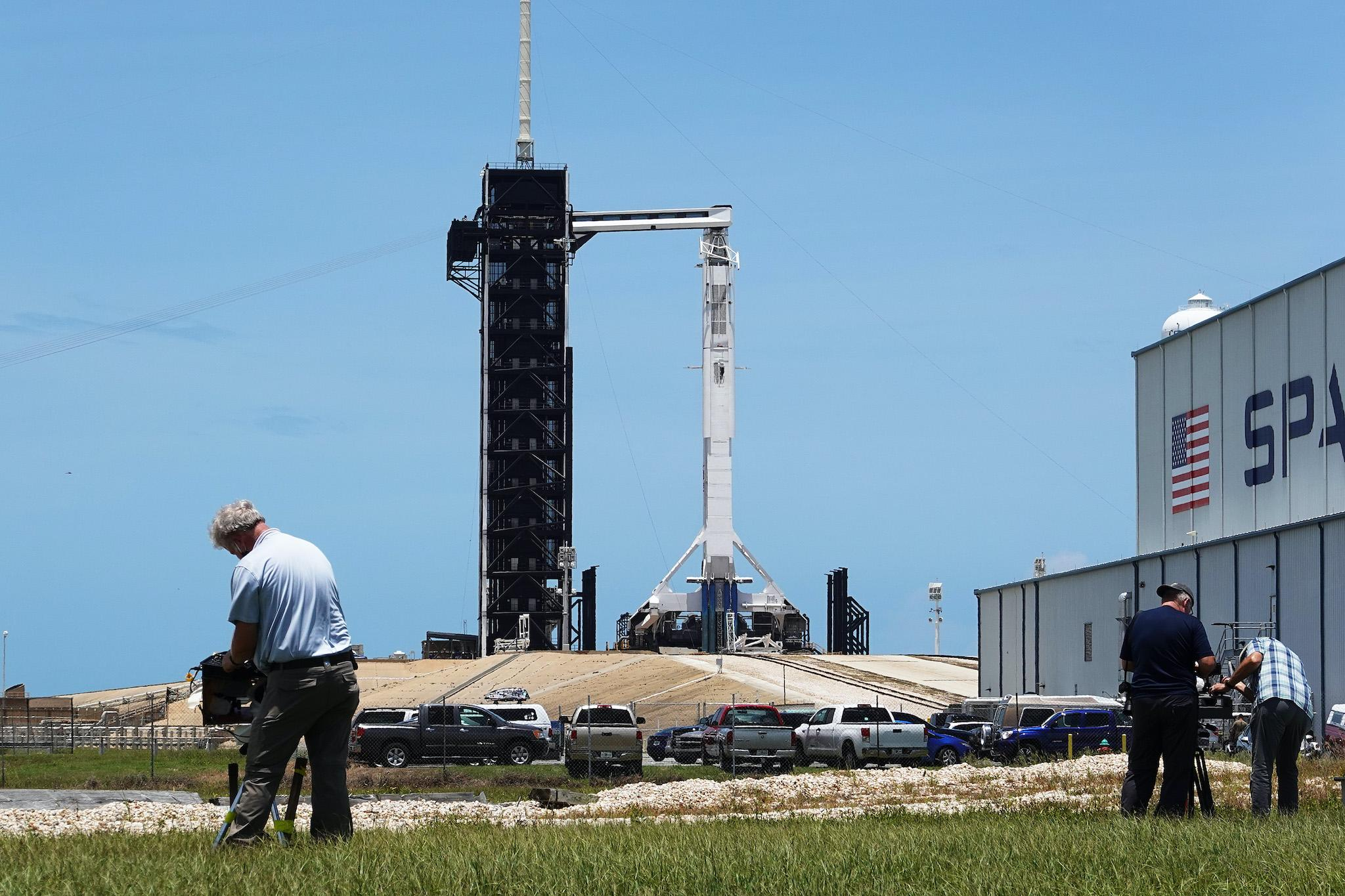 SpaceX launch - live: Nasa to attempt mission today as rocket liftoff threatened by weather again