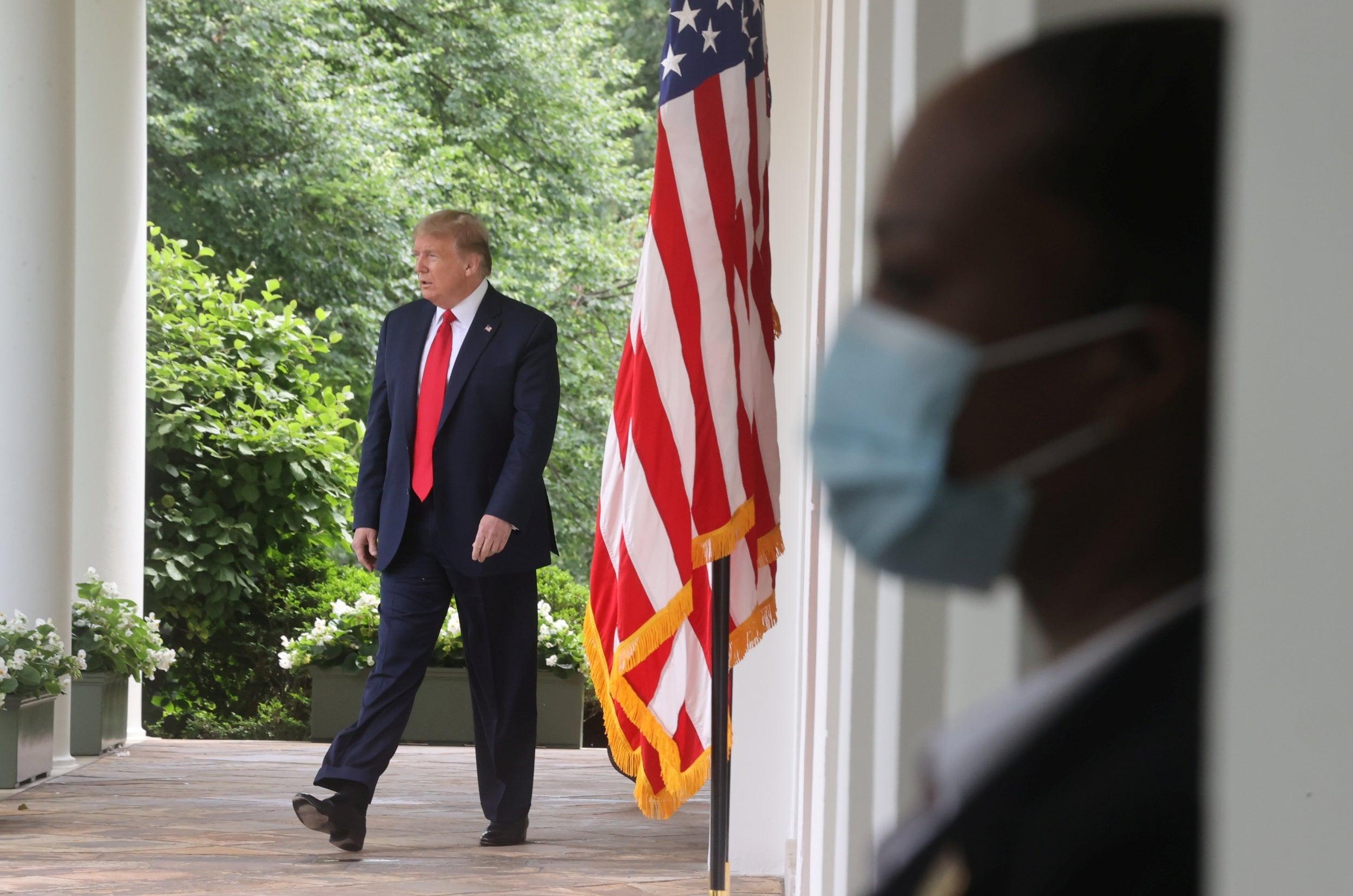 Trump demands Republican convention 'with no masks or social distancing' despite coronavirus pandemic