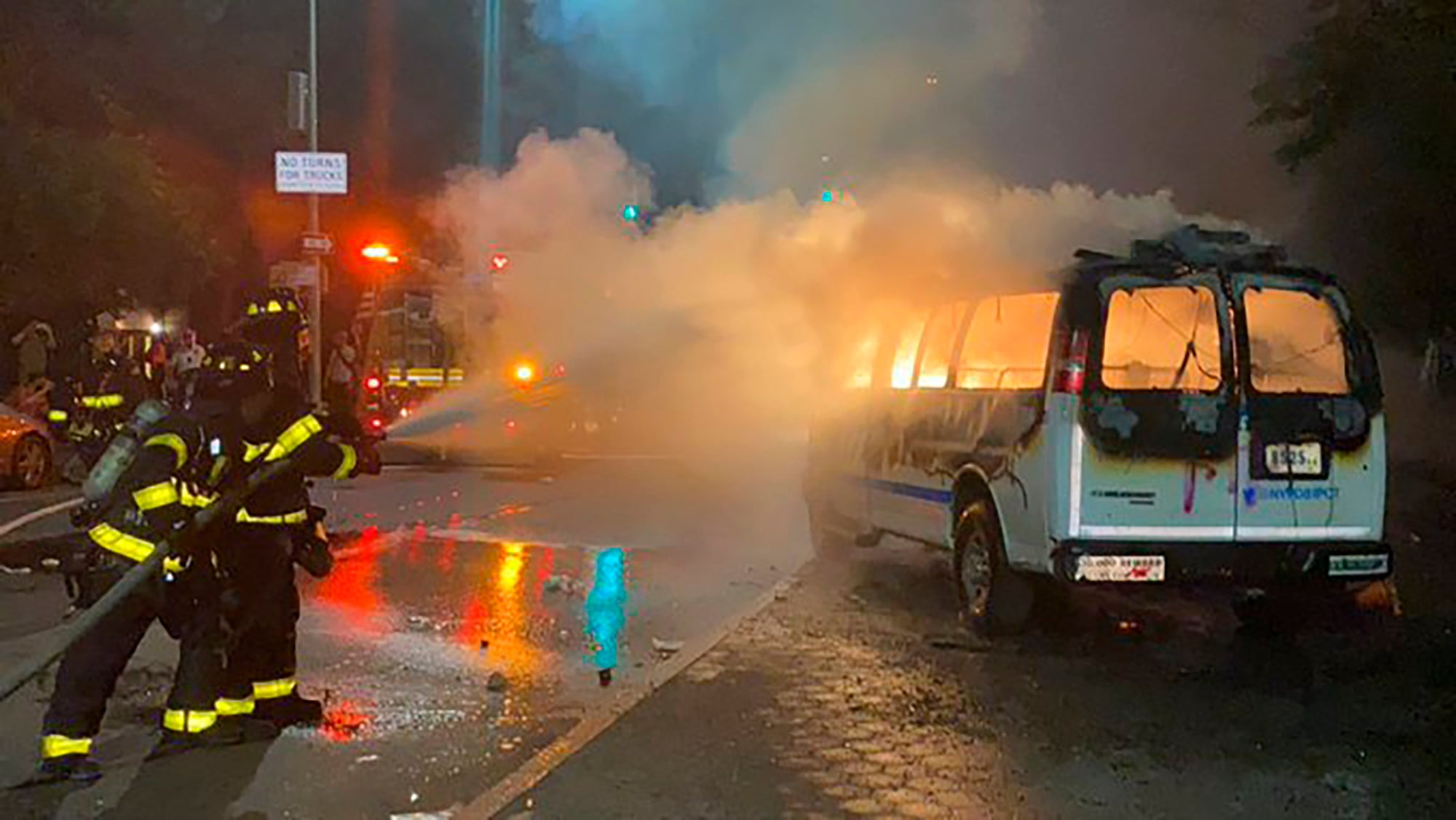 George Floyd protests: Woman faces attempted murder charge after police cruiser hit with Molotov cocktail