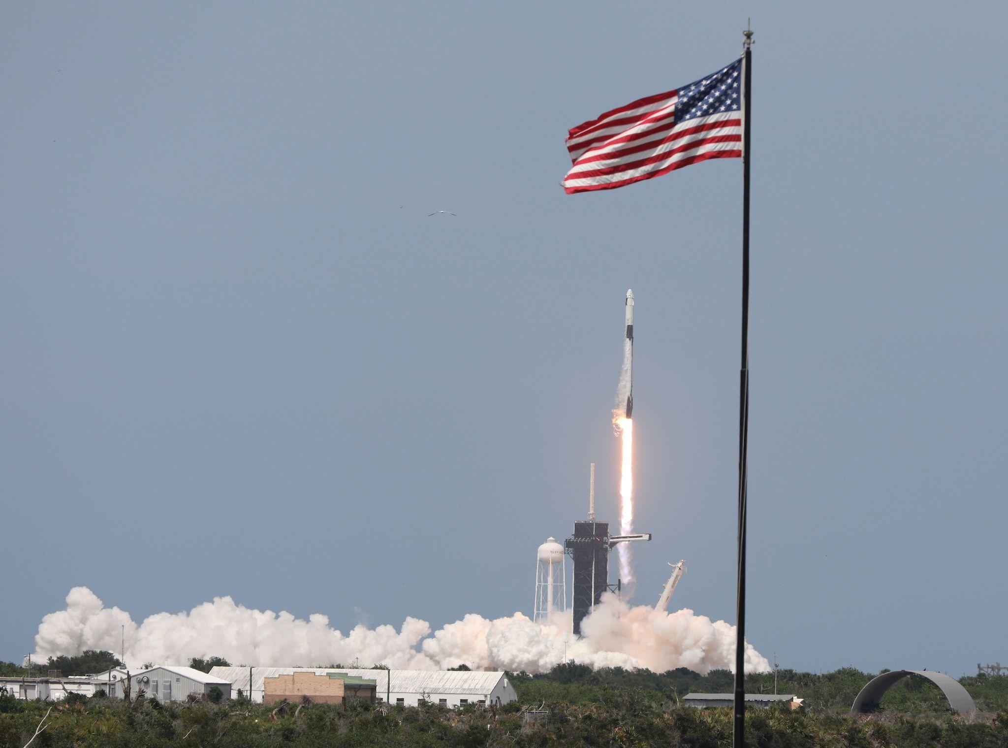 SpaceX launch: Nasa astronauts shot into space in historic mission