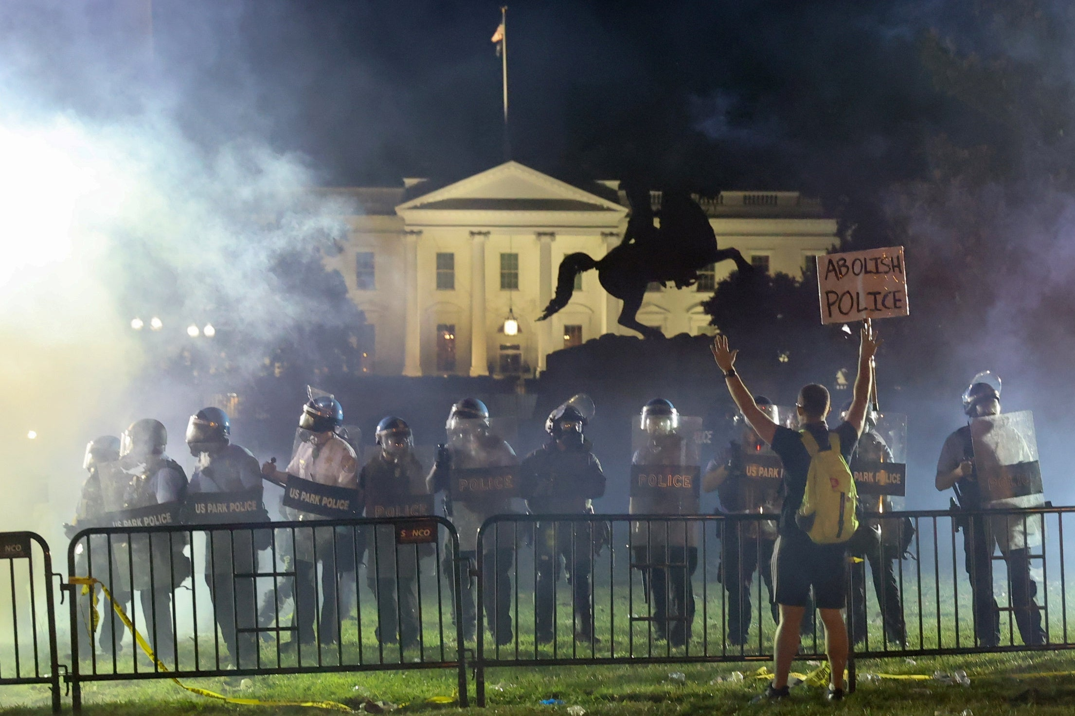 Trump attempts to tie Biden aides to 'anarchists' protesting around the US