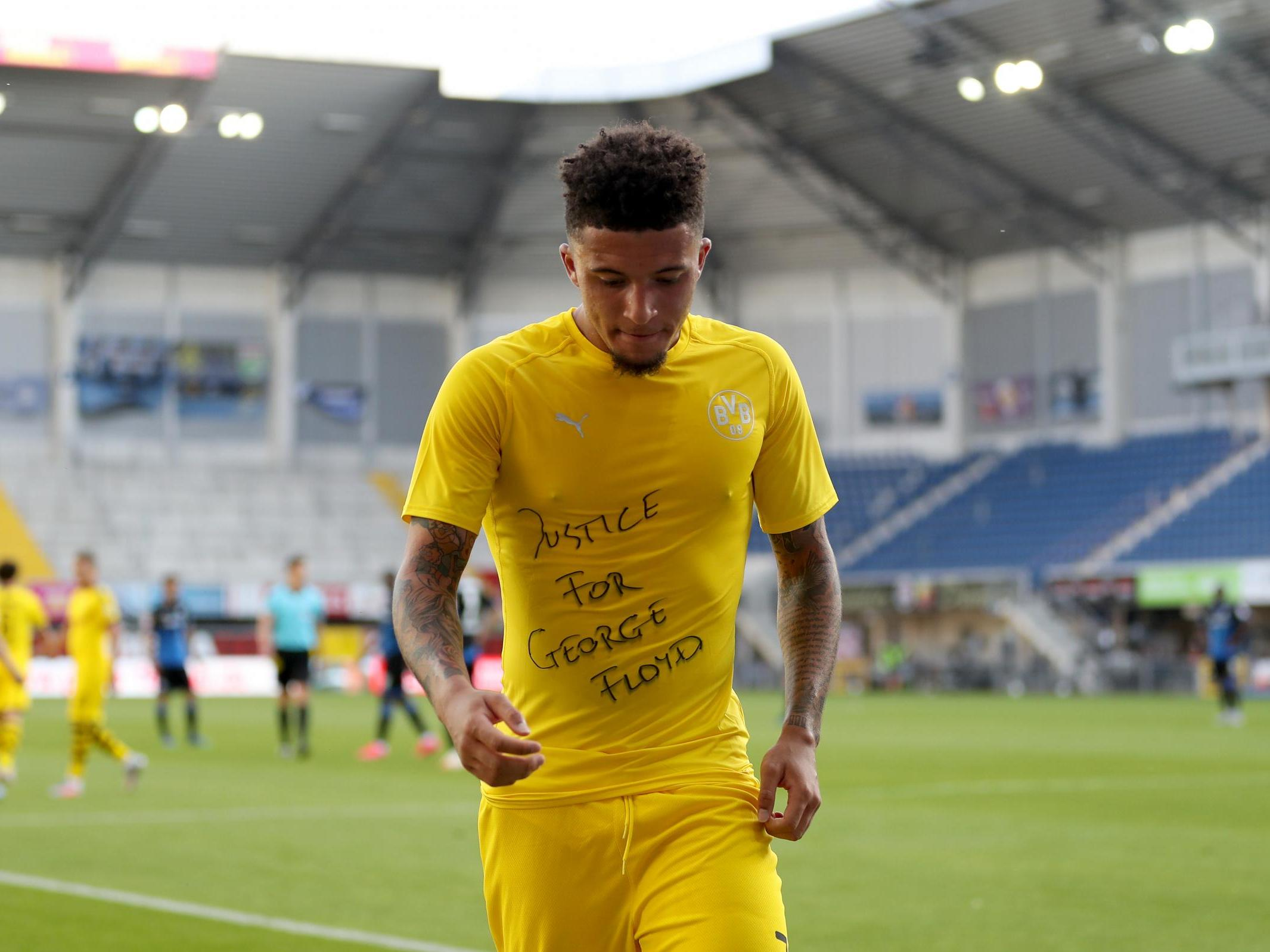 Jadon Sancho and other Bundesliga players who called for 'Justice for George Floyd' won't face disciplinary action