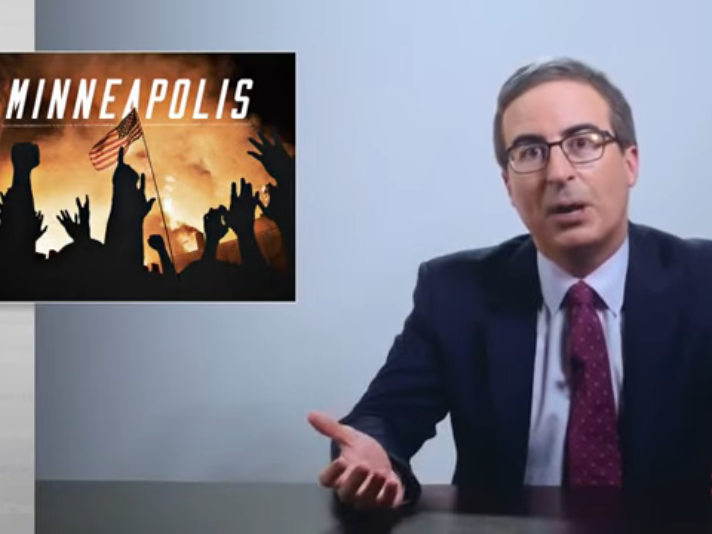 George Floyd protests: John Oliver says US police misconduct 'built on legacy of white supremacy'