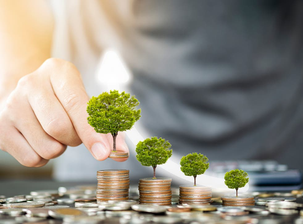 Stock image illustrating the concept of a green economic recovery
