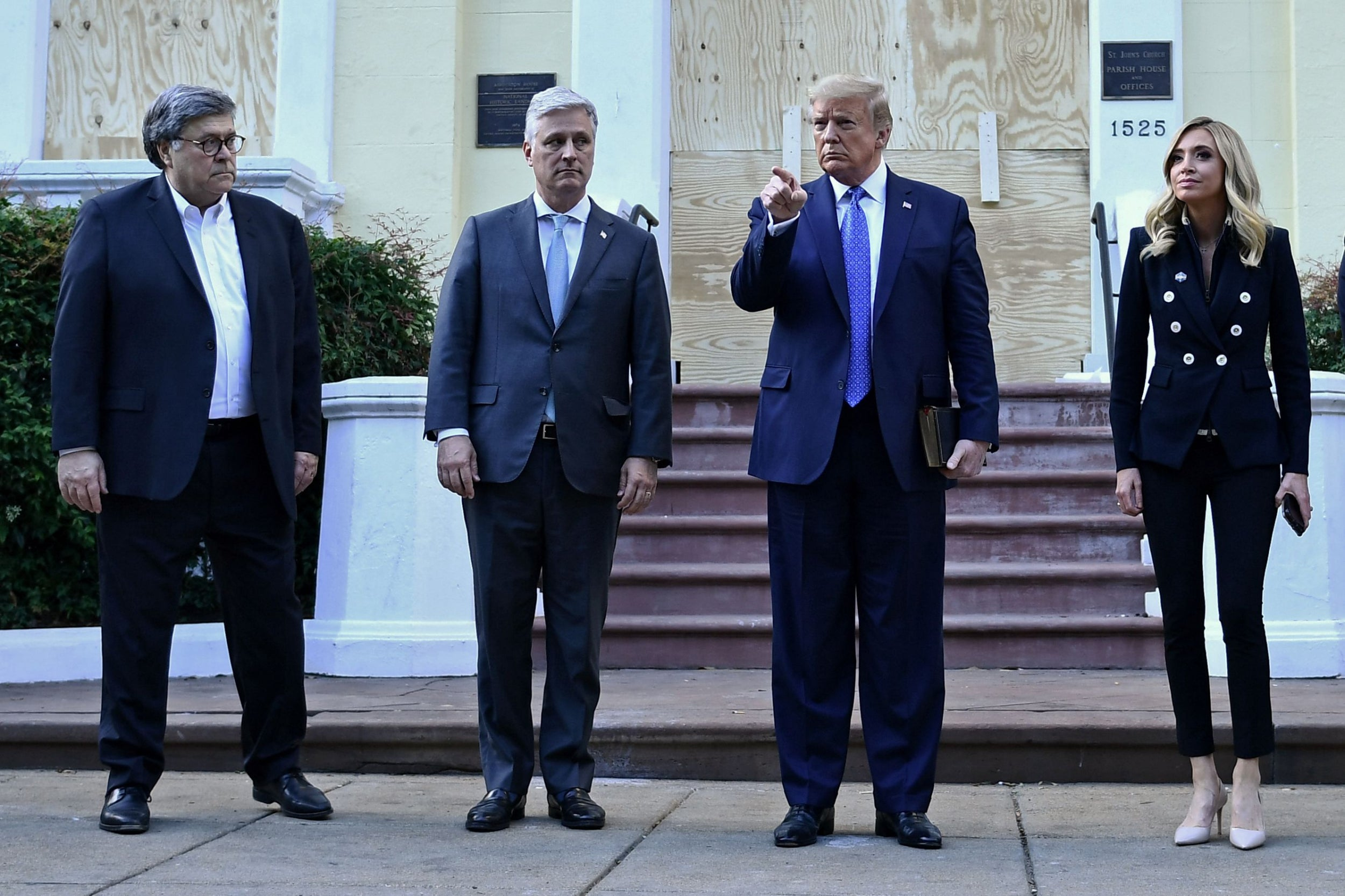 Trump accused of tear-gassing peaceful protesters 'for a photo-op ...