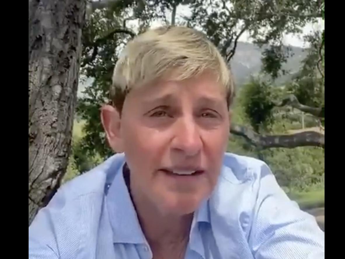 Ellen DeGeneres holds back tears in George Floyd video, days after deleting 'injustice' tweet amid backlash thumbnail