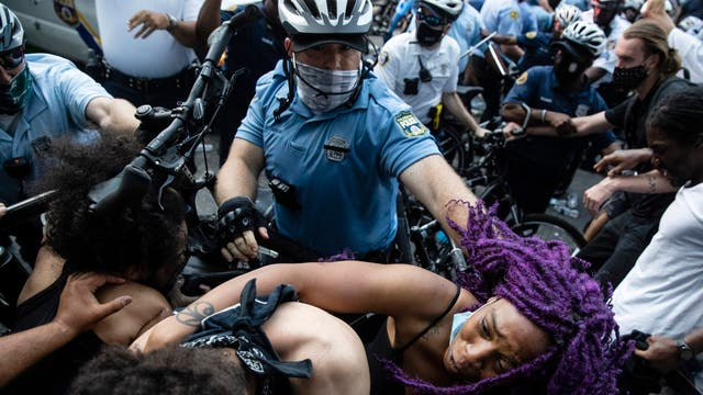 Police have clashed with protesters throughout the ongoing demonstrations across the US against police brutality and racism in the country, sparked by the recent deaths of George Floyd, Ahmaud Arbery and Breonna Taylor