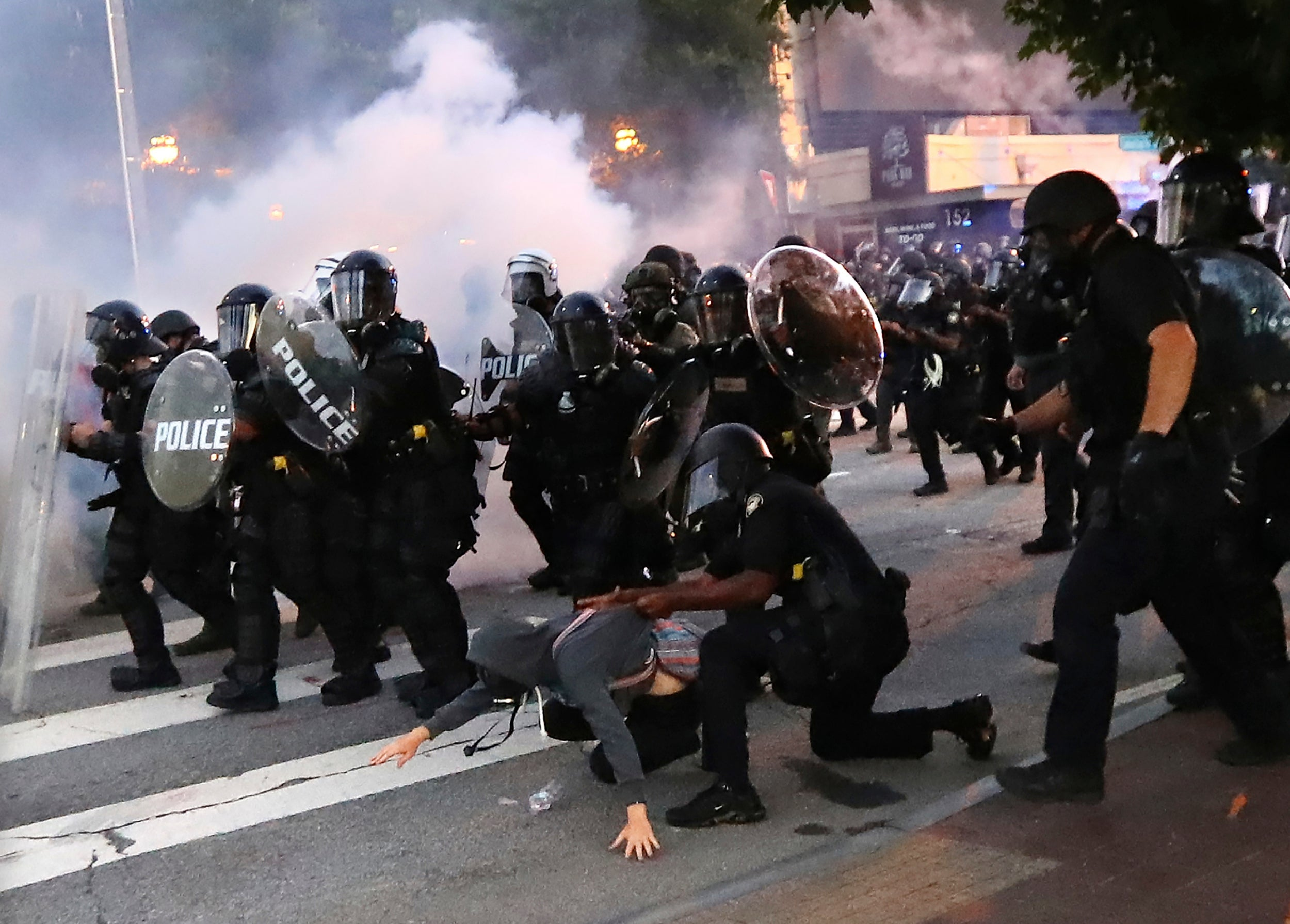 Atlanta protests: Six police officers charged with using excessive force in arrest of college students