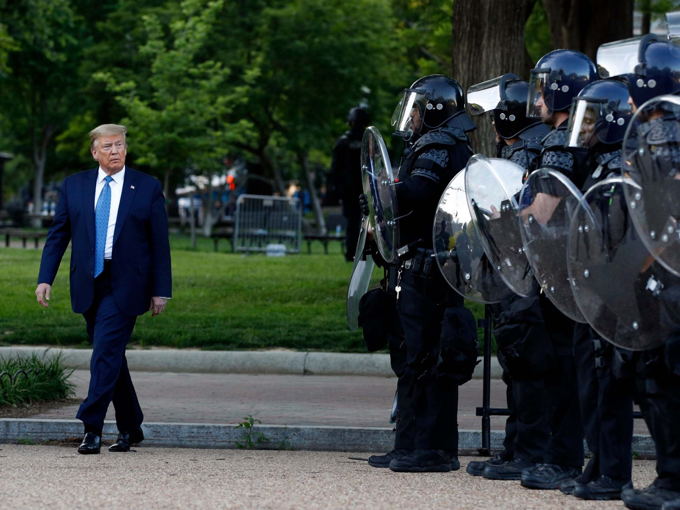 Bishops 'outraged' as priests forced from church by armed police before Trump Bible photo