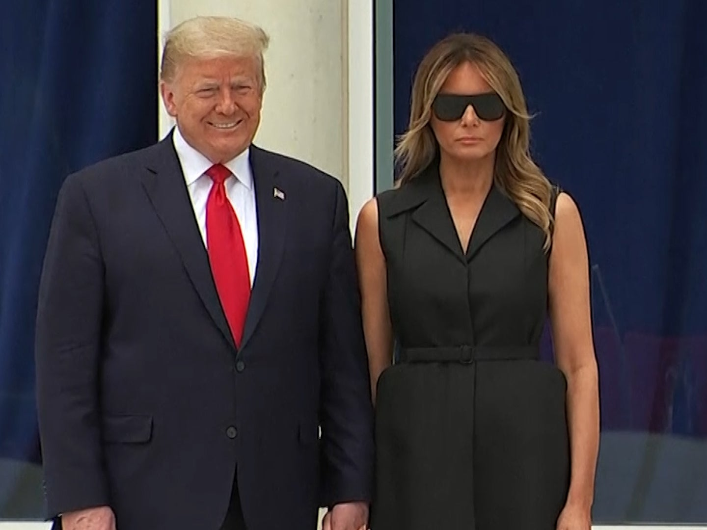 Trump appears to ask Melania to smile during photo op at chapel that infuriated church leaders
