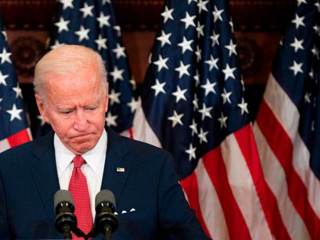 Joe Biden has the support of a majority of Americans in some polls. AFP