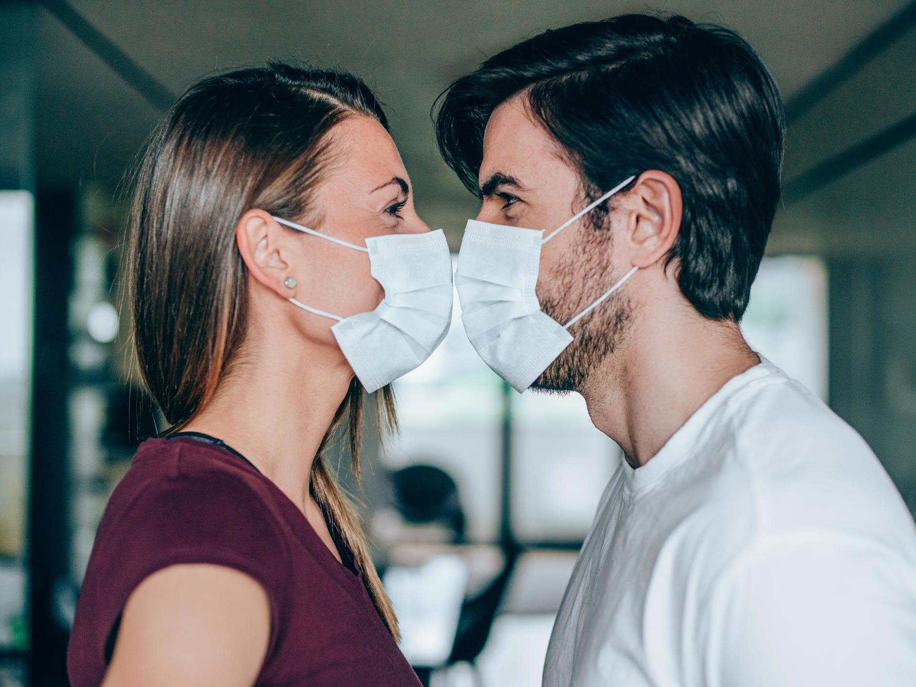Avoid kissing and wear face masks during sex to prevent spread of coronavirus, charity says
