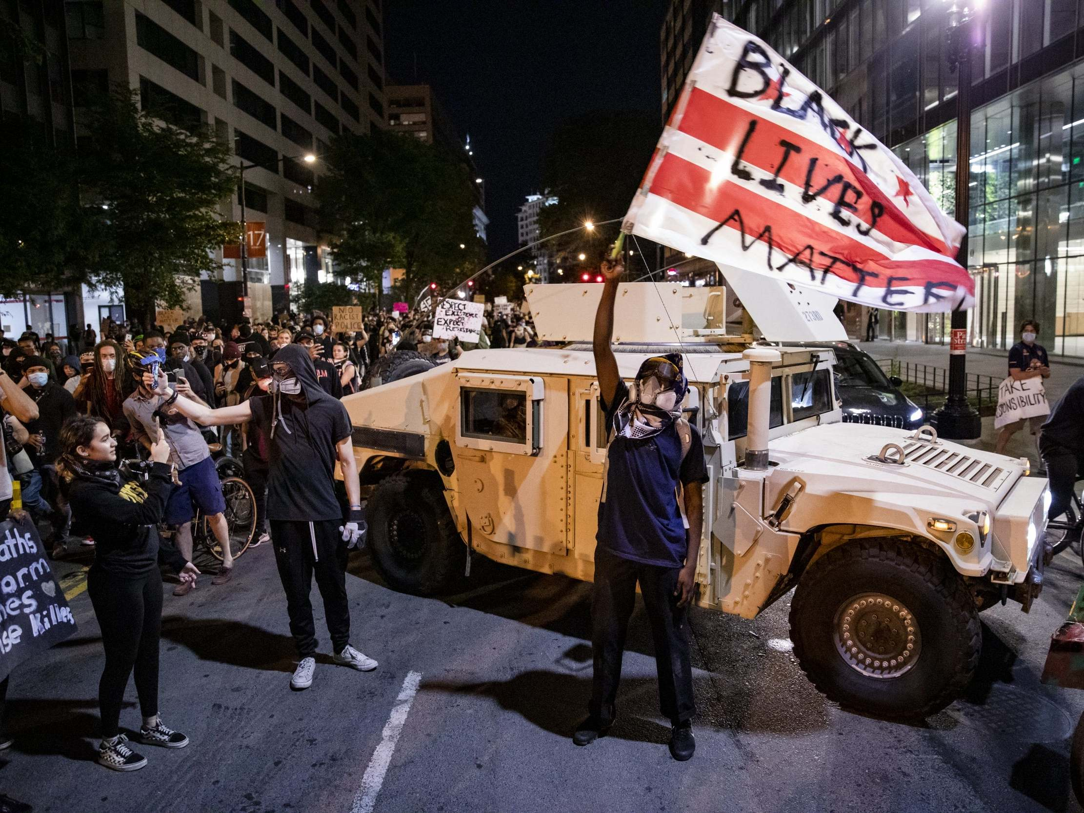 George Floyd protests – live: Trump insists New York needs National Guard presence as thousands break curfew across US to demand justice thumbnail