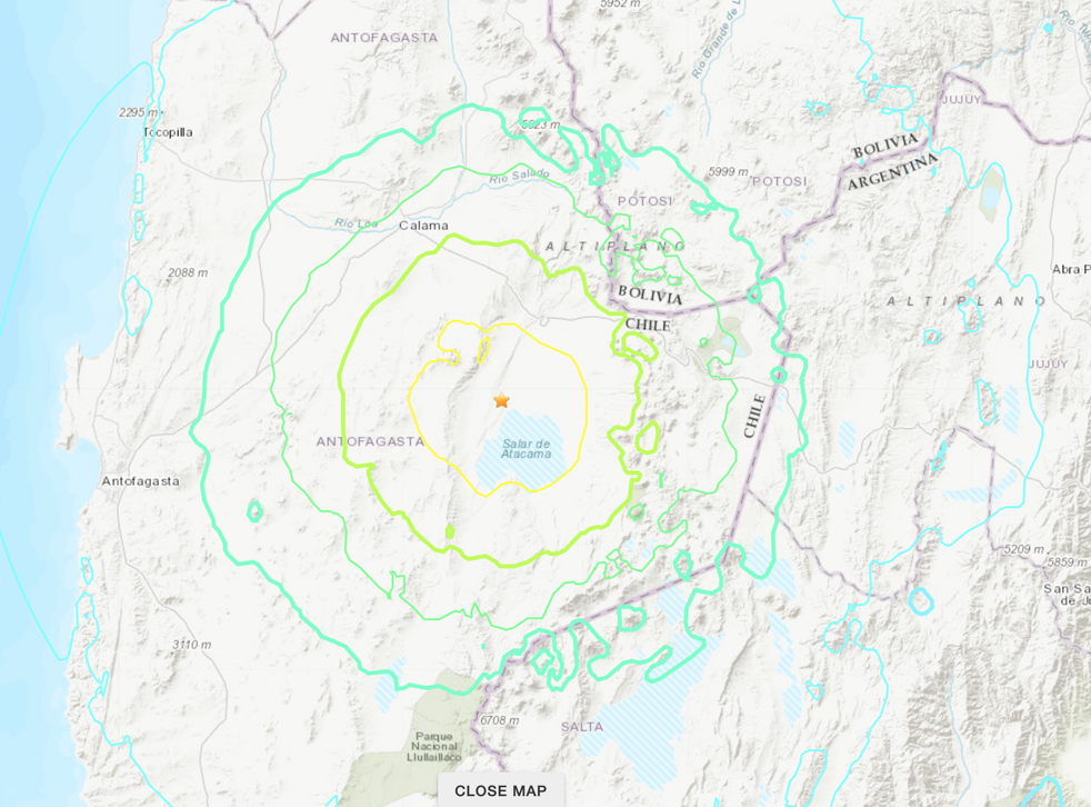 An earthquake struck northern Chile on the morning of 3 June, 2020