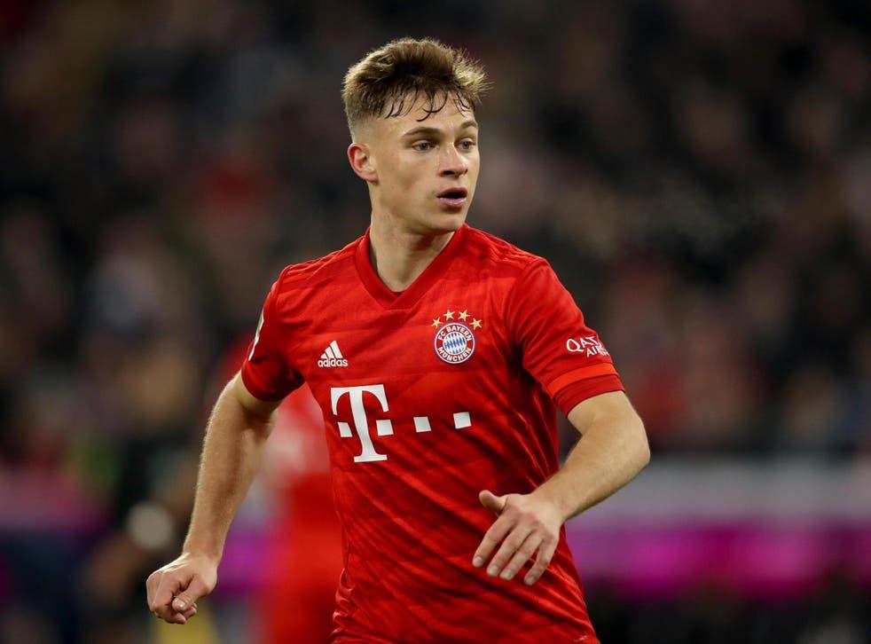 Joshua Kimmich in action for Bayern Munich