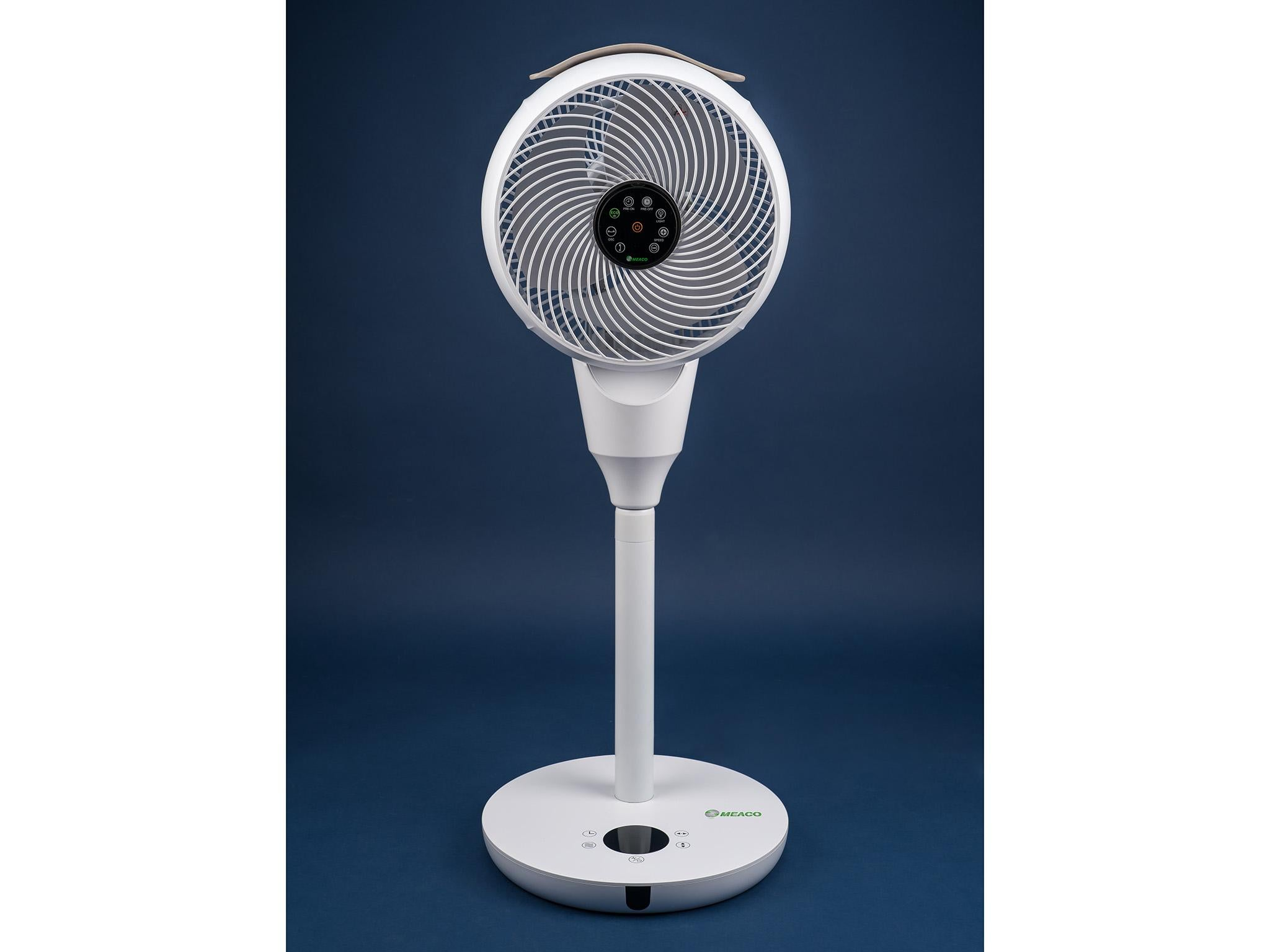 Color : Blue Air Cooler USB Multi-Function Small Fan 7 Blades Night Light Mini Handheld Desktop Car Electric Fan