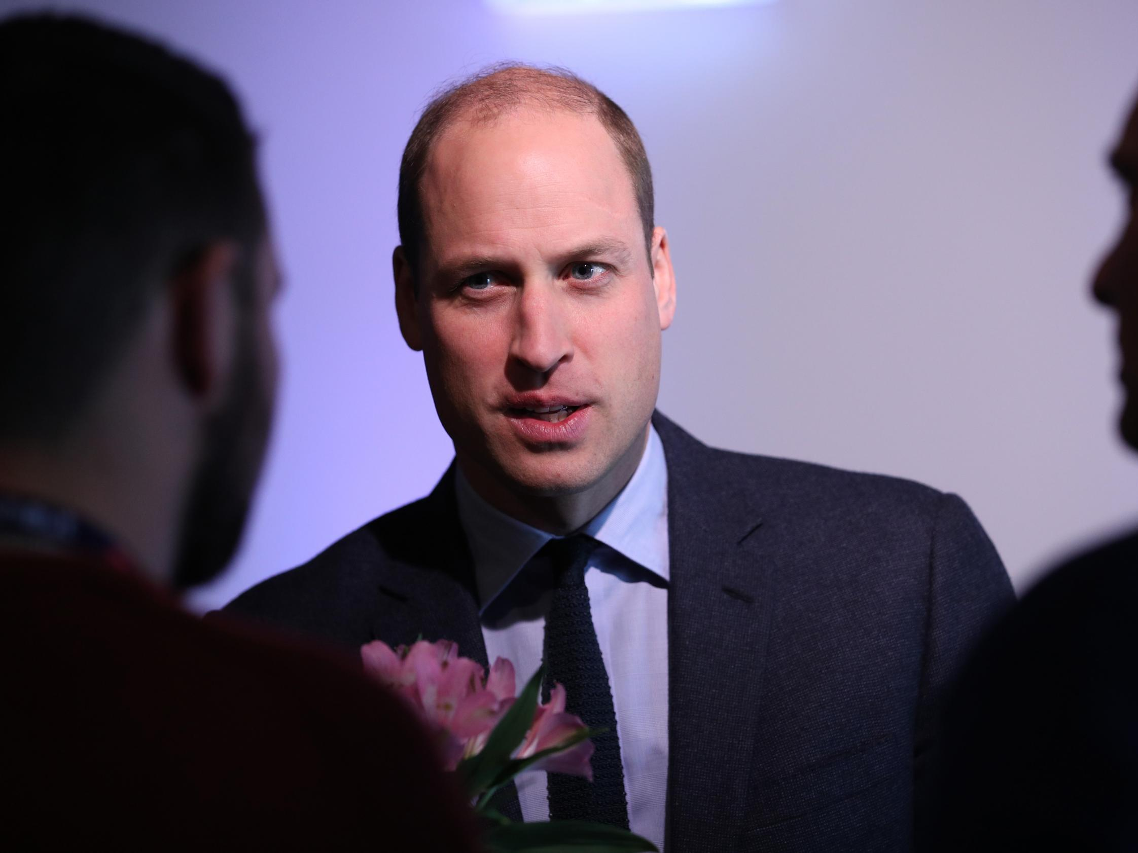 Prince William reveals he is helpline counsellor for people in crisis