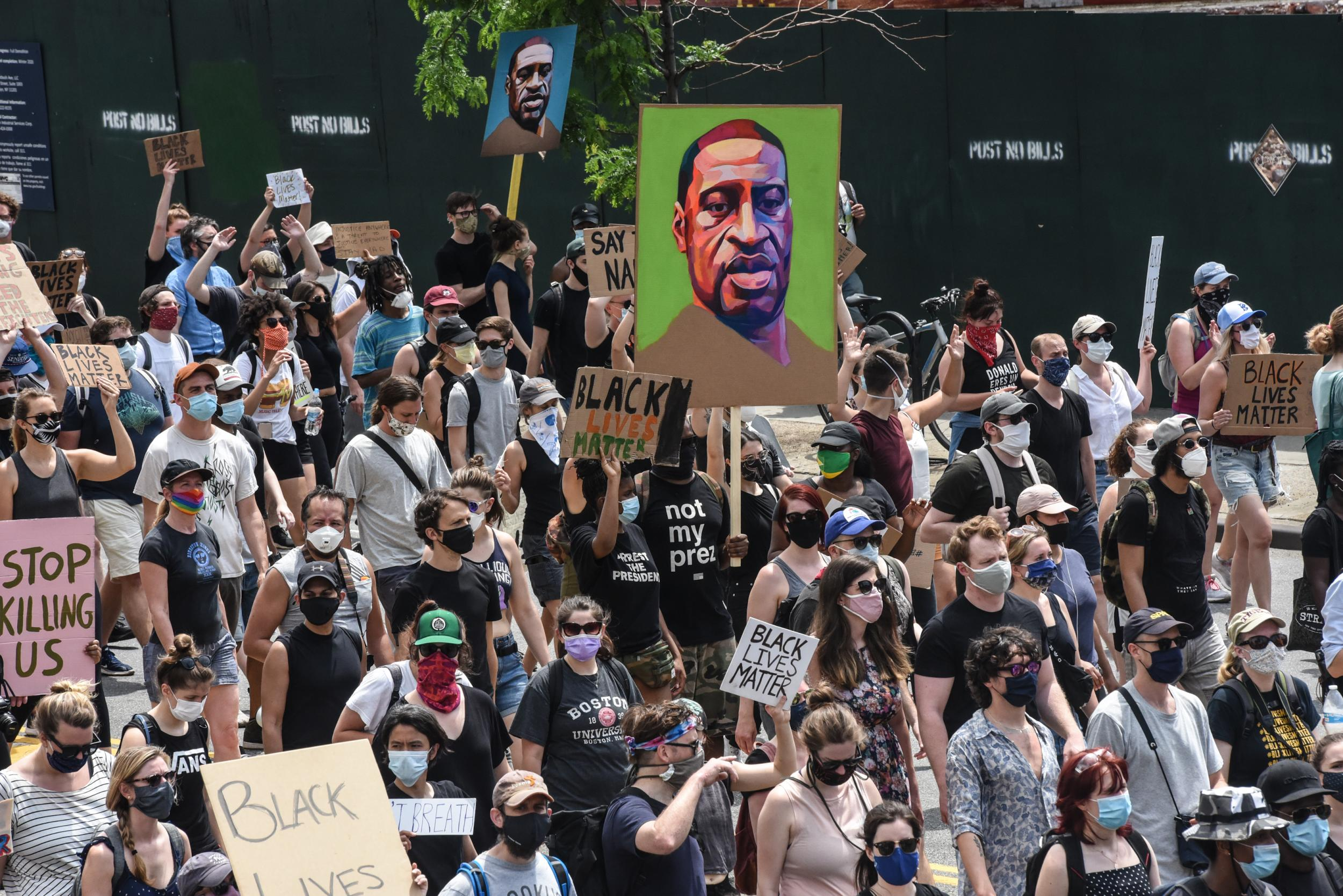 Hundreds of thousands of protestors take to America's streets to call for racial justice