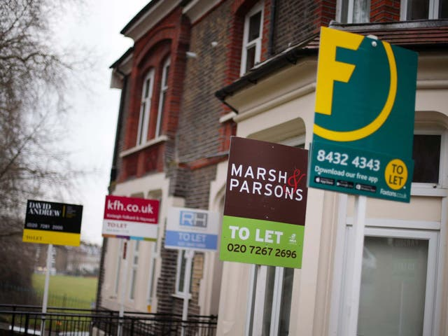 File photo dated 08/02/17 of a row of To Let estate agent signs placed outside houses in north London