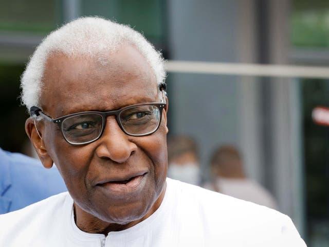 Lamine Diack, the former head of the IAAF