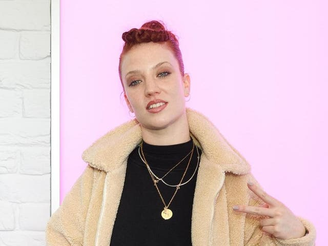 Jess Glynne at a radio event in 2019