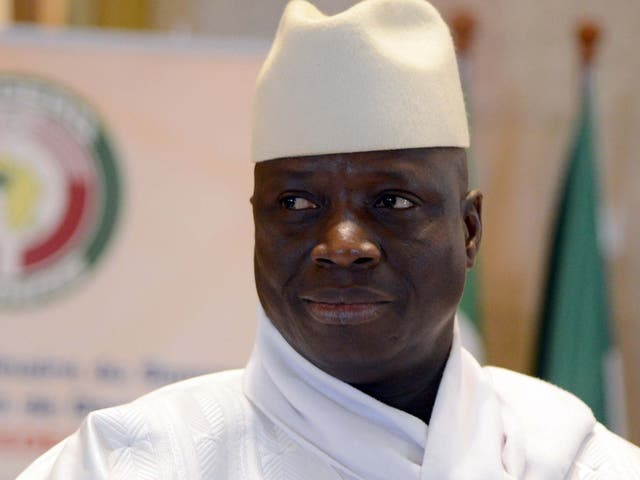 Former Gambia president Yahya Jammeh, who entered exile in 2017
