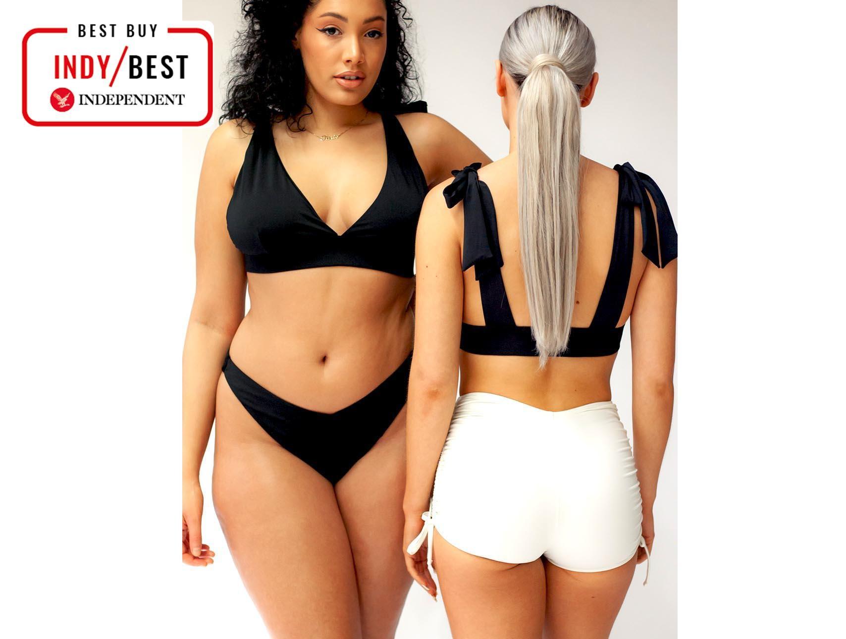 Flyrong High Waisted Padded Halter Bikini Sets for Women Swimming Costume for Women