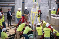 Statue of Confederate president removed from Kentucky capitol
