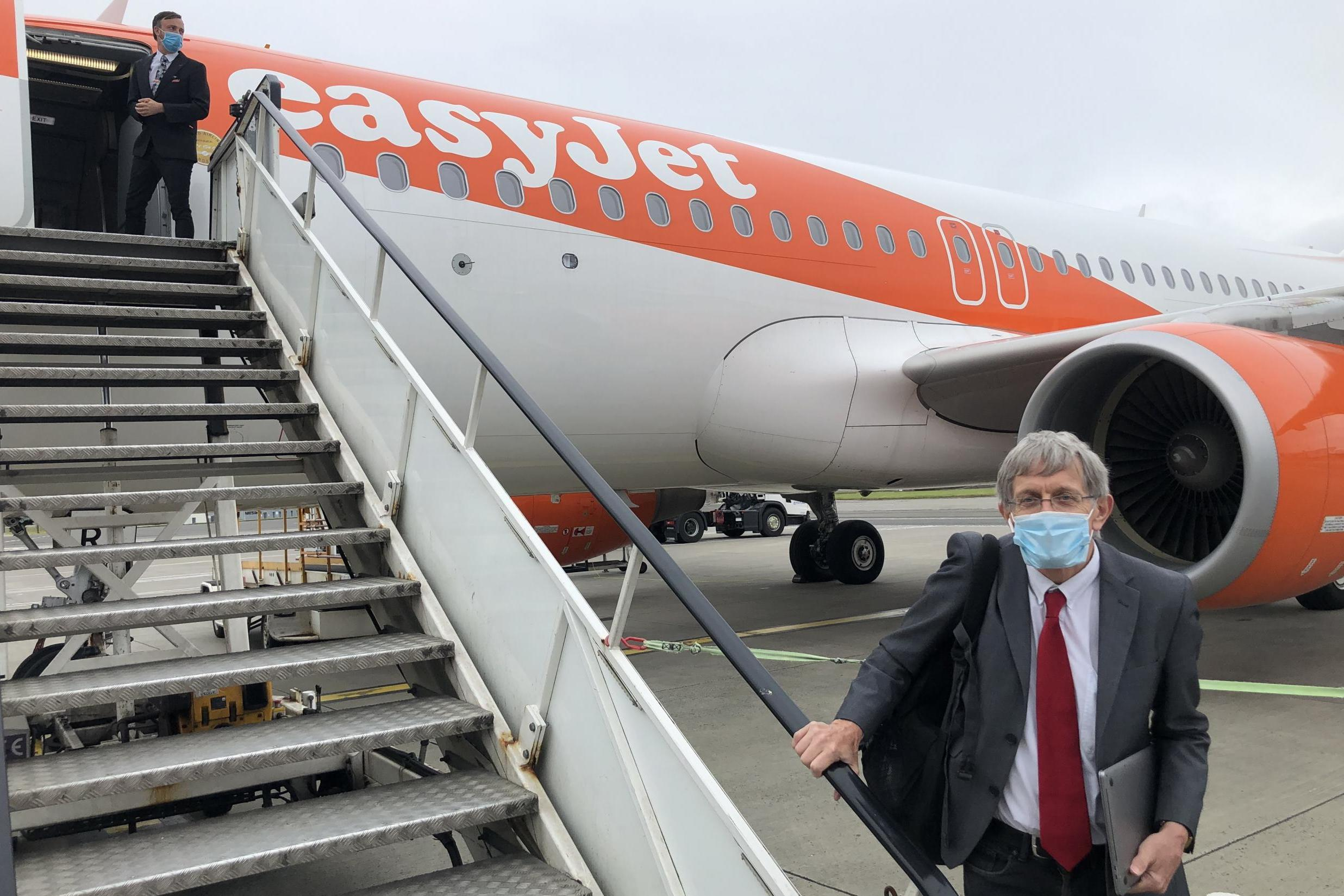 What it's like to take the first easyJet flight after 11 weeks of being grounded