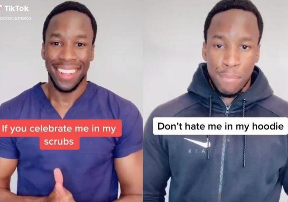 Black doctor asks people to respect him in his hoodie as well as his scrubs  | The Independent