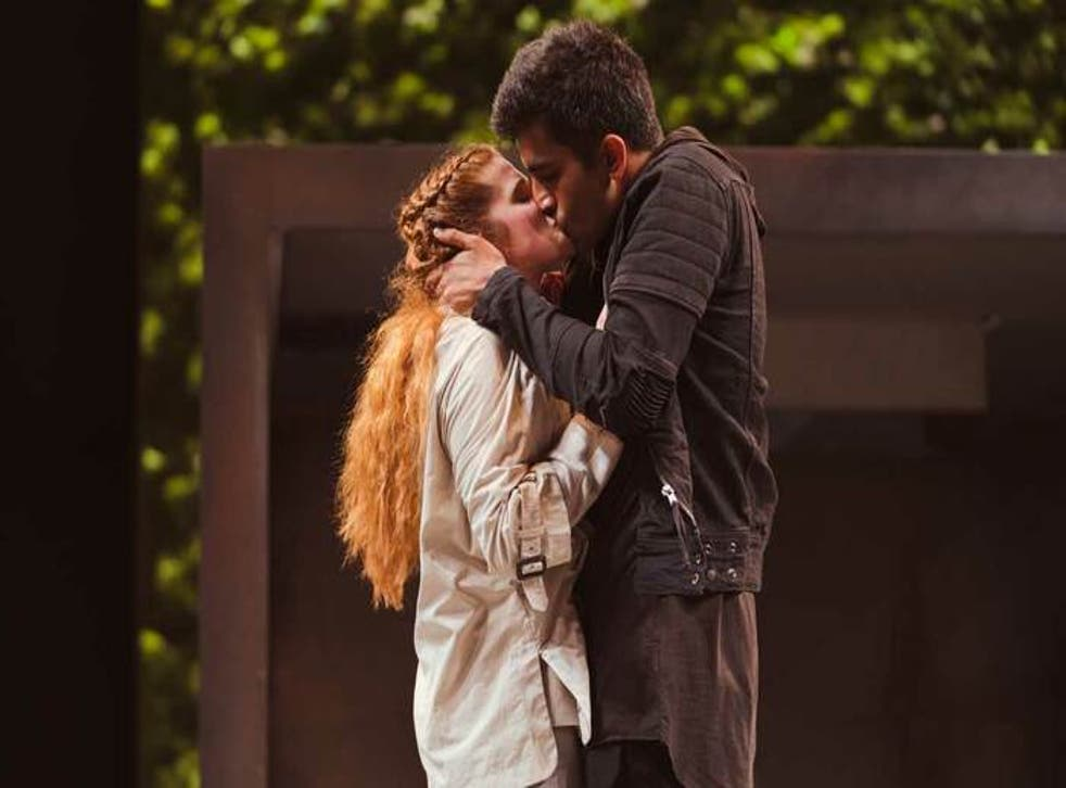 Karen Fishwick and Bally Gill in the RSC's production of Romeo and Juliet