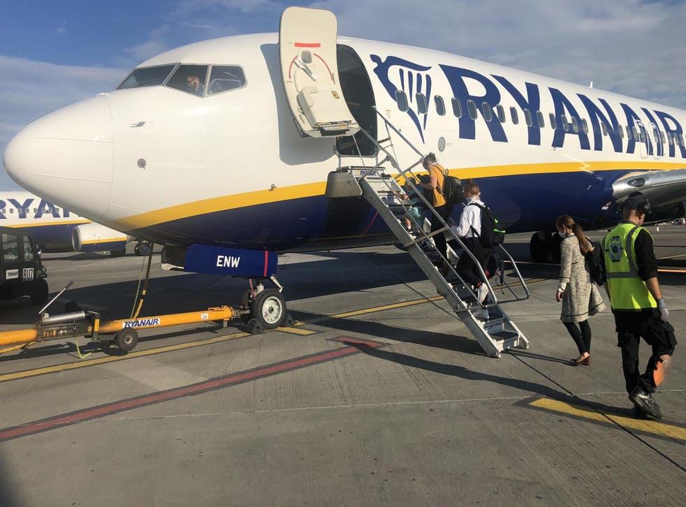 Care port: a Ryanair plane at Dublin airport