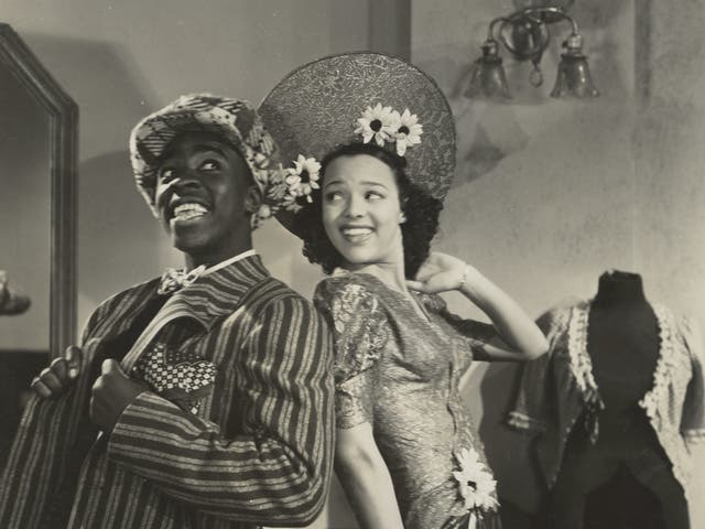 Paul White and Dorothy Dandridge in a 'A Zoot Suit'