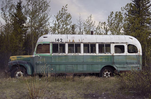 The bus where Chris McCandless took shelter in the Alaskan wilderness