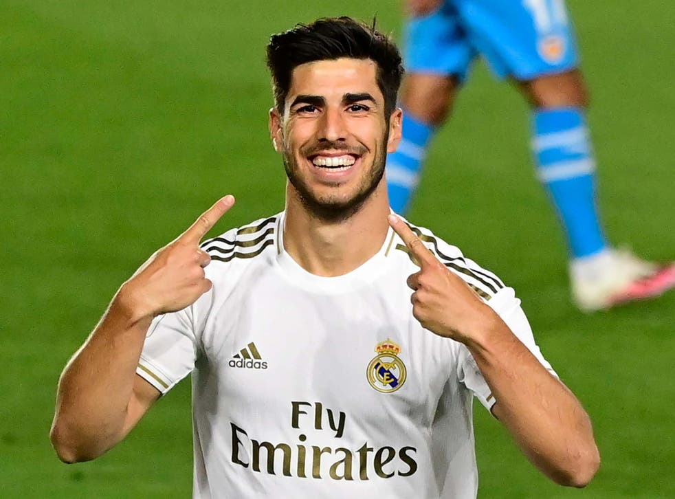 Marco Asensio scored with his first touch after returning for Real Madrid after a year out of action