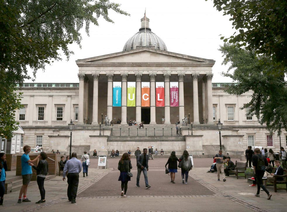 File image of the main entrance to University College London.