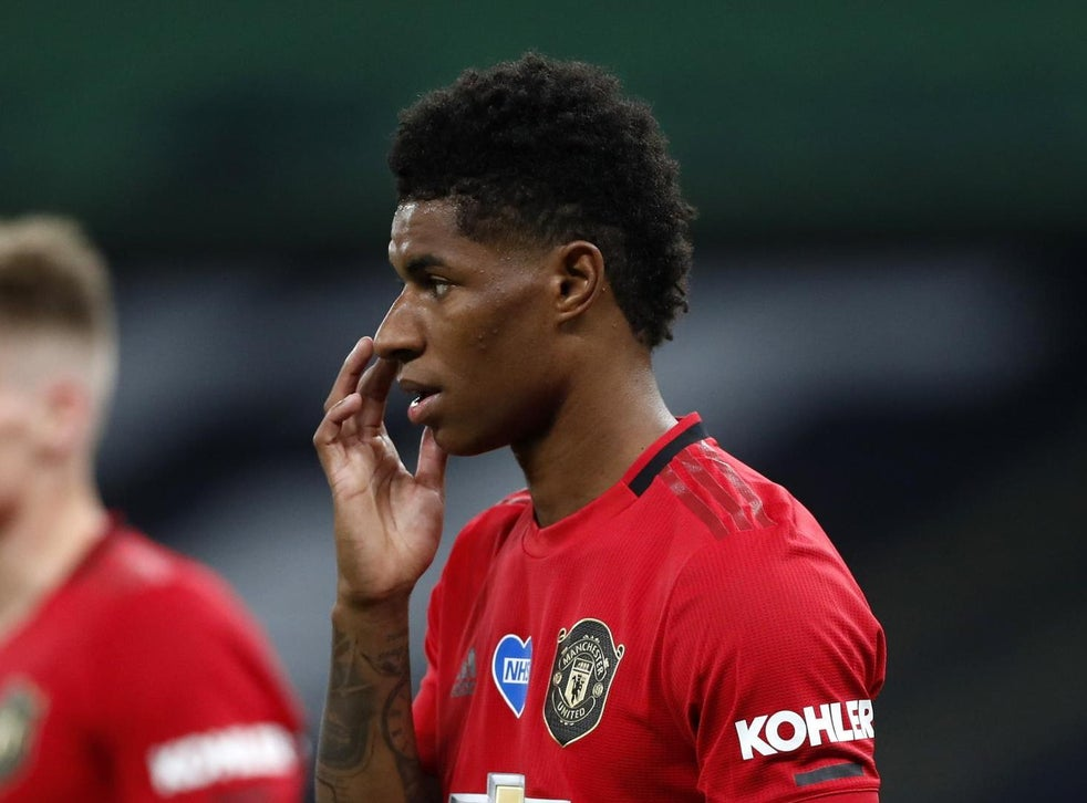 Marcus Rashford Ends Draining Week As It Started By Scrapping It Out On The Left Wing As Man United Salvage Point The Independent The Independent