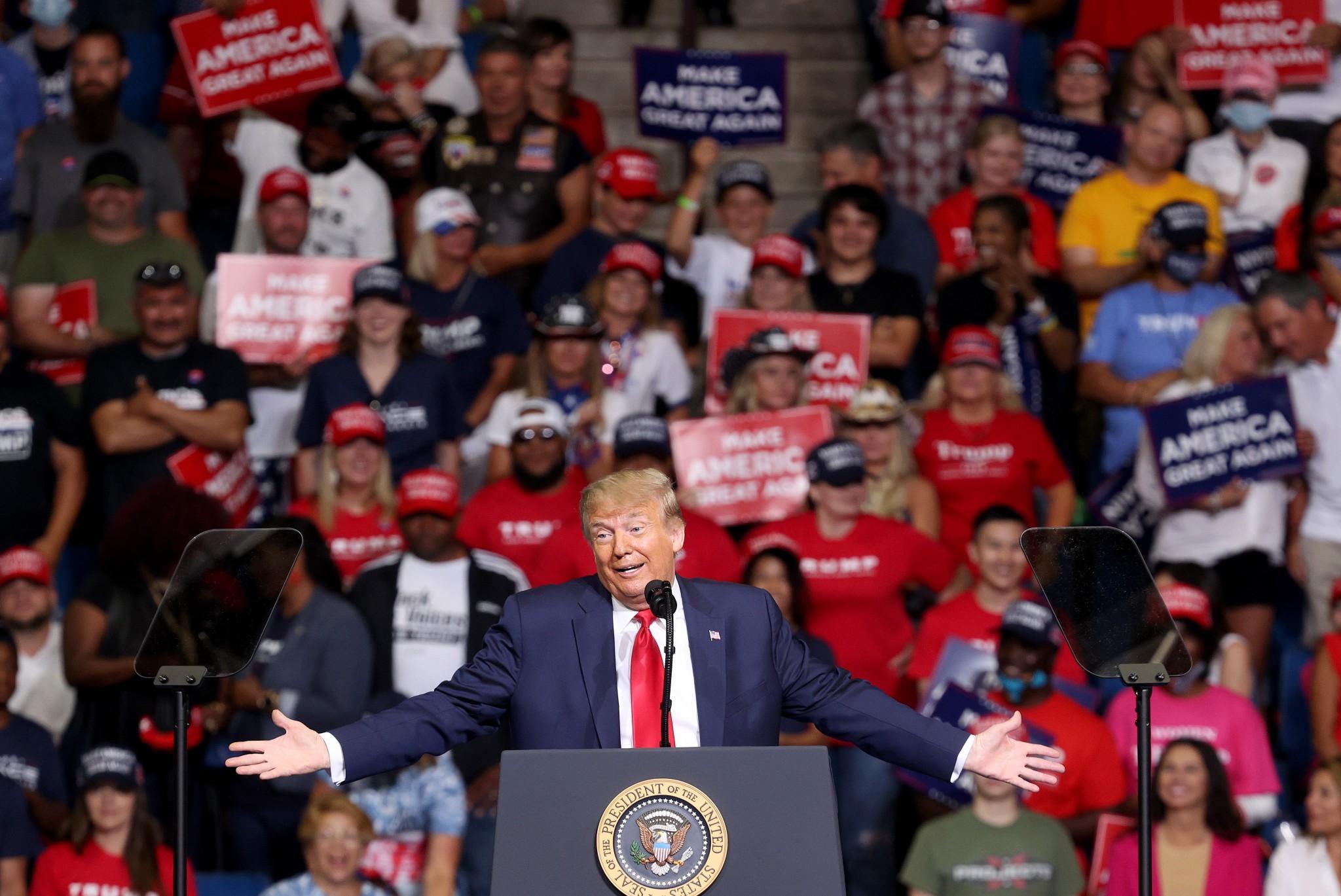 'Whiny b****': Anti-Trump Republican group mocks president over ramp walk