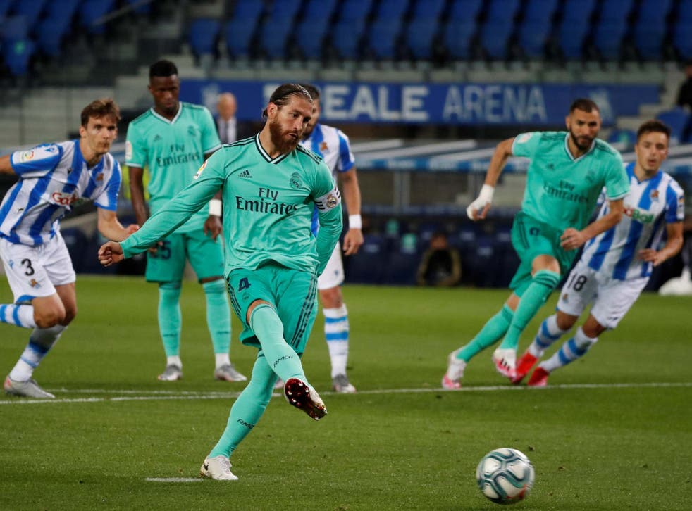 Sergio Ramos guides a finish home from the penalty spot