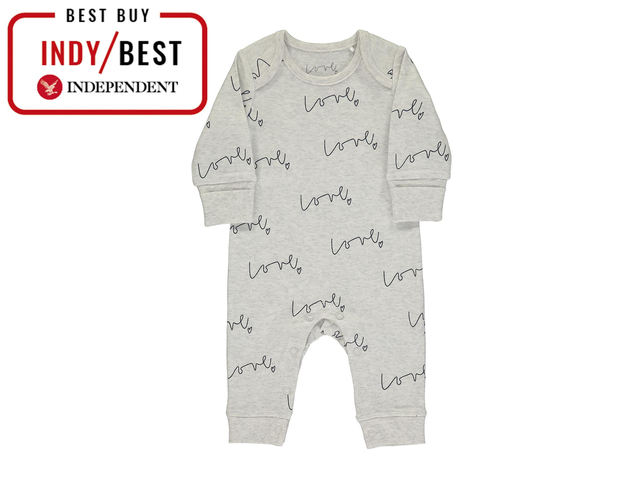 Piccalilly Baby Sleepsuit with Feet Unisex Pond Life Print for Baby Girl Chemical Free Organic Cotton Baby Boy