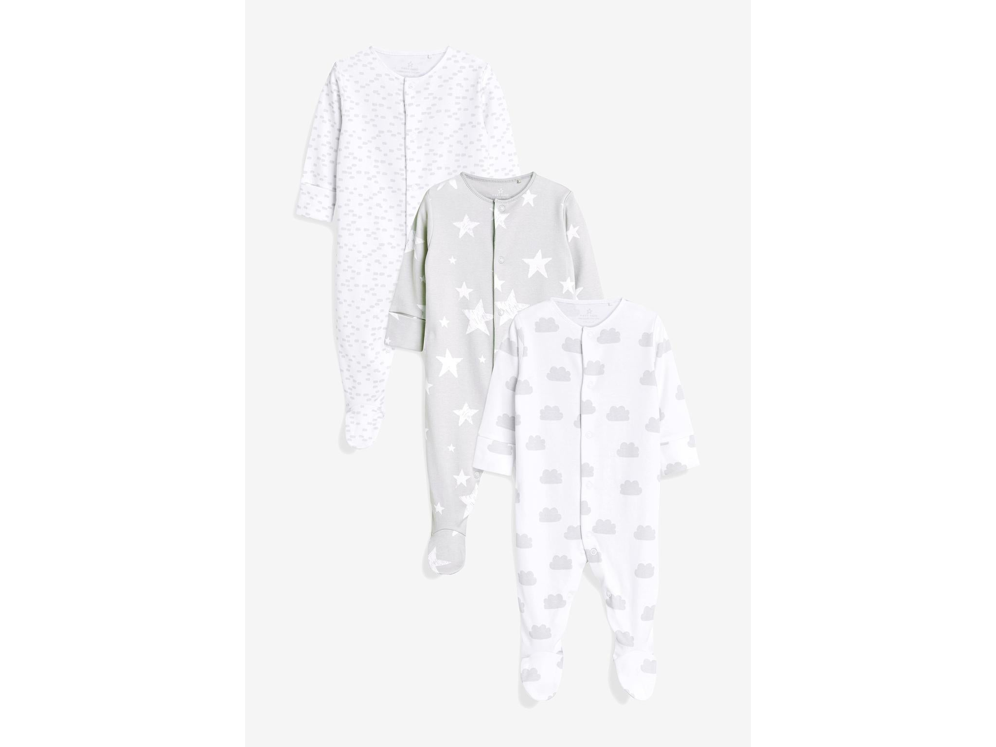 Baby Unisex Babygrow//Vest 100/% Soft Touch Cotton White Long Sleeve Multipack