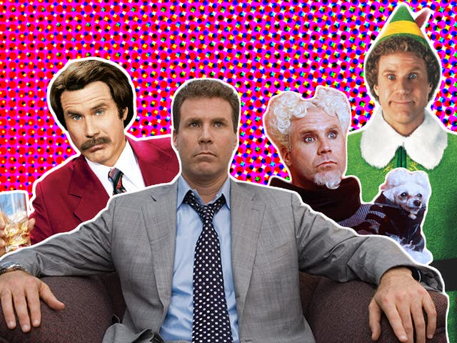 Will Ferrell in 'Anchorman: The Legend of Ron Burgundy', 'Stranger Than Fiction', 'Zoolander' and 'Elf'