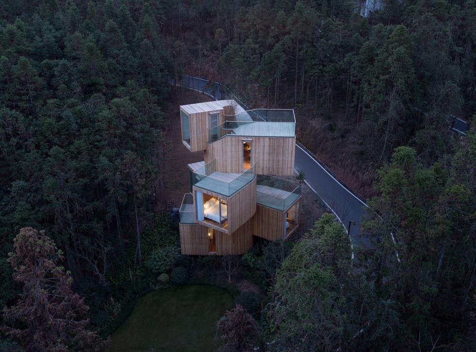 Qiyunshan tree house, Xiuning County, China