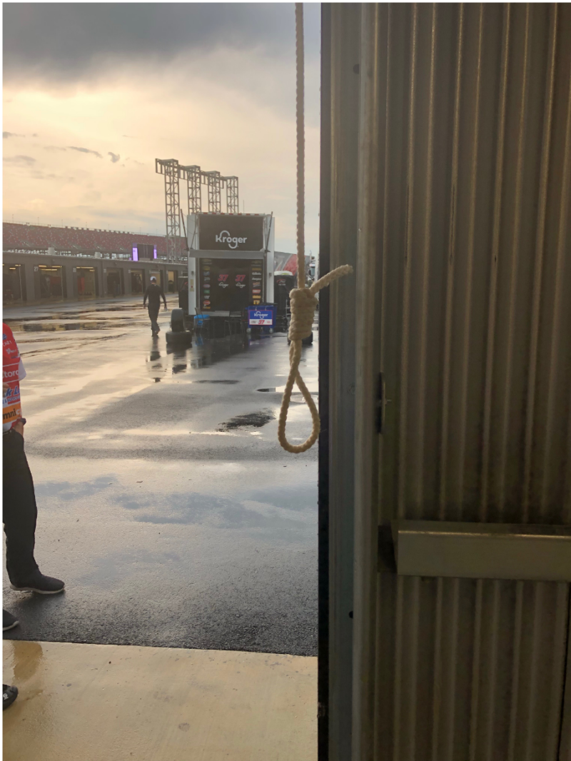 Nascar Releases Photo Of Pull Rope Fashioned Like A Noose