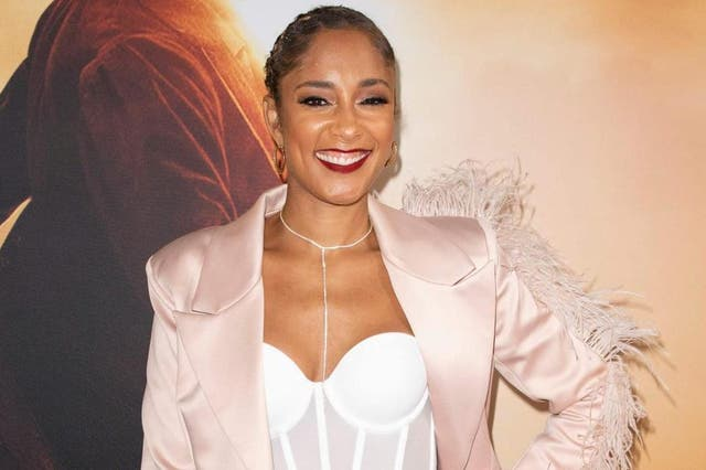 Amanda Seales (pictured in October 2019 in Los Angeles) is the host of this year's BET Awards.
