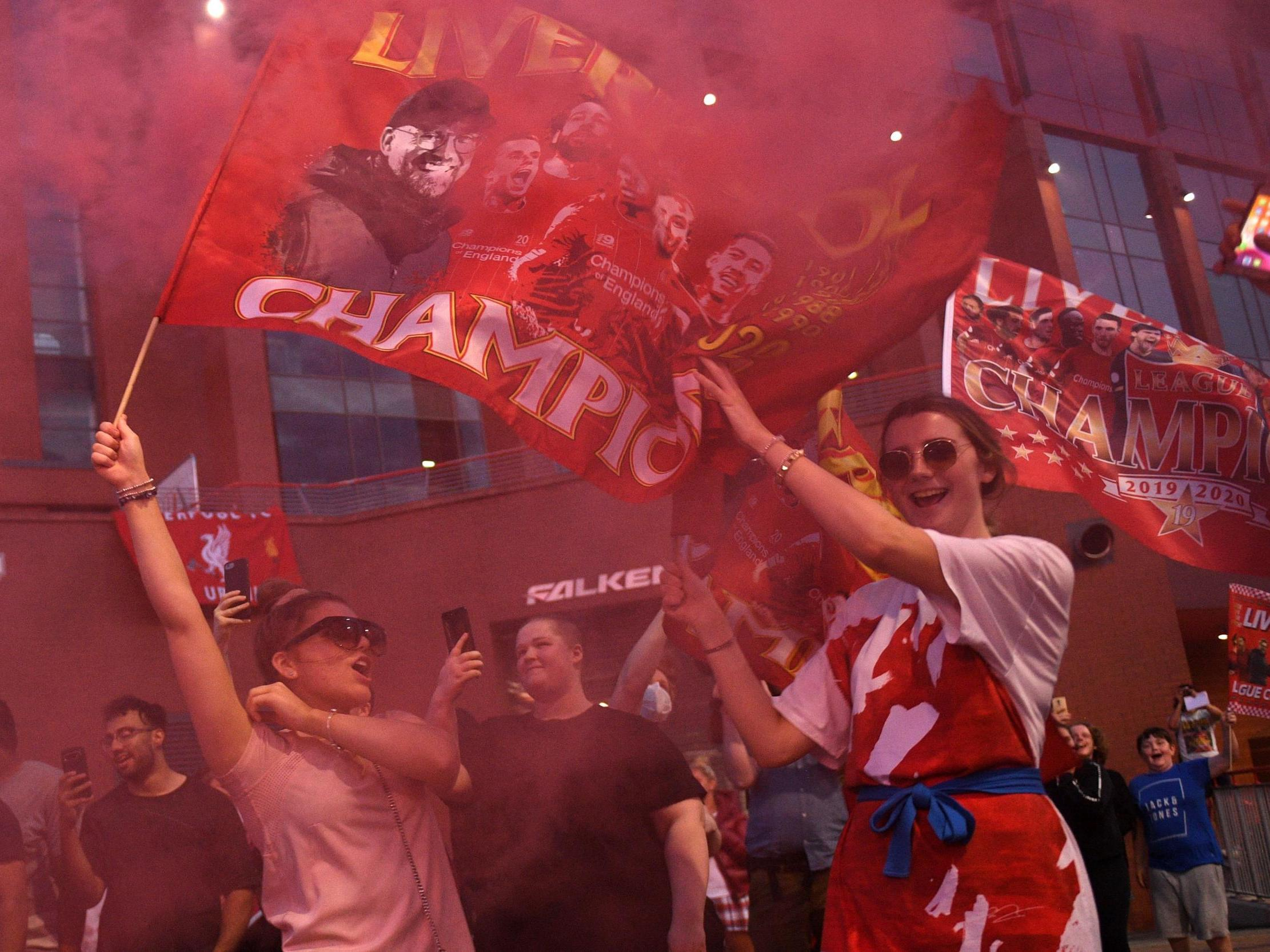 Better than giving birth': Liverpool fans celebrate winning first ...
