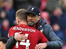 Henderson credits Klopp for ending Liverpool's long wait for the title