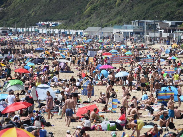 Red alert: the hordes at Bournemouth beach