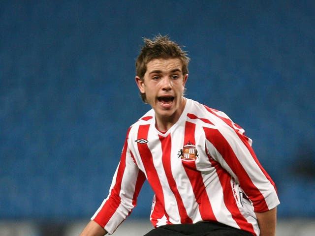 Jordan Henderson in action for Sunderland in the 2008 FA Youth Cup