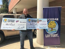 Michigan man wins $4m lottery jackpot – for the second time